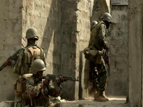 soldiers carryout military training in sierra leone - sierra leone stock videos & royalty-free footage