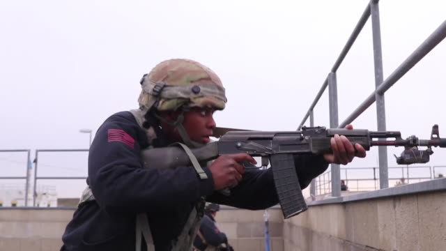 us soldiers conduct a simulated firefight at hohenfels readiness center germany during exercise dragoon ready 20 - battalion stock videos & royalty-free footage