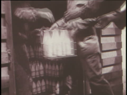 soldiers distribute relief supplies to berlin during operation vittles. - milk bottle stock videos & royalty-free footage