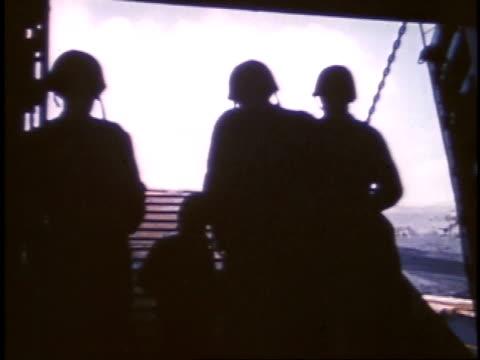 soldiers driving tanks off a ship / iwo jima, japan - battle of iwo jima stock videos & royalty-free footage