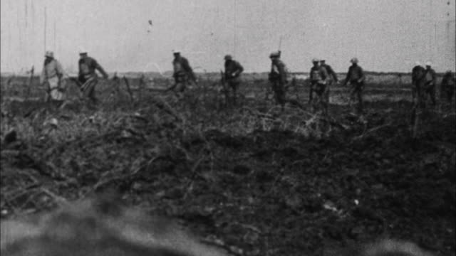 soldiers during wwi / france - trench stock videos & royalty-free footage