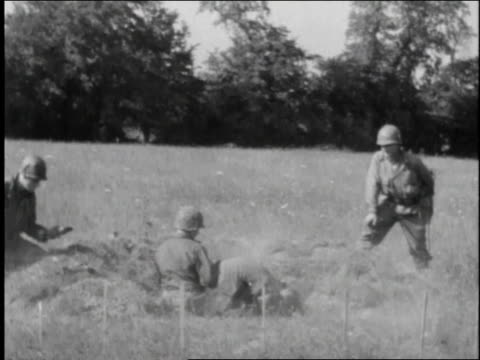 soldiers fire a mortar from a trench - 1944 stock videos and b-roll footage