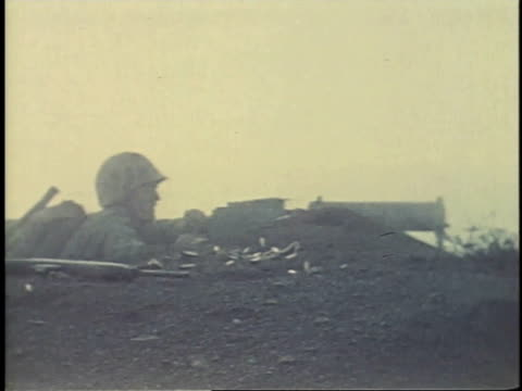 soldiers firing machine guns / guam - guam video stock e b–roll