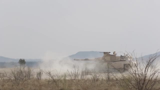 soldiers from 1st battalion 8th cavalry regiment participate in a combined arms live fire exercise at fort hood range texas as part of pegasus forge... - pegasus stock videos & royalty-free footage