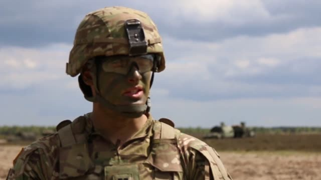 soldiers from 3rd battalion, 29th field artillery regiment conducted artillery live fire in karliki, poland. the training helps the unit prepare and... - operation atlantic resolve stock videos & royalty-free footage