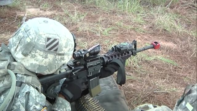soldiers from 3rd battalion 7th infantry regiment 2nd infantry brigade combat team 3rd infantry division training in weapon squads and conducting air... - regiment stock videos & royalty-free footage
