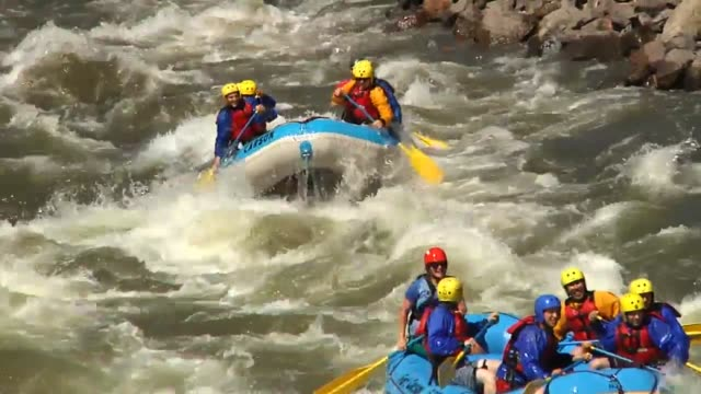 soldiers from around 3rd armored brigade combat team 4th infantry division traveled to bighorn state park in colorado to relax and work on... - whitewater rafting stock videos & royalty-free footage