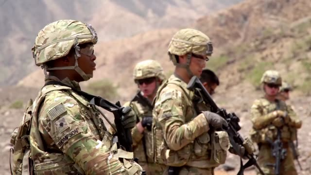 soldiers from attack company, assigned to combined joint task force-horn of africa's east african response force, carry out a live fire exercise with... - horn of africa stock videos & royalty-free footage
