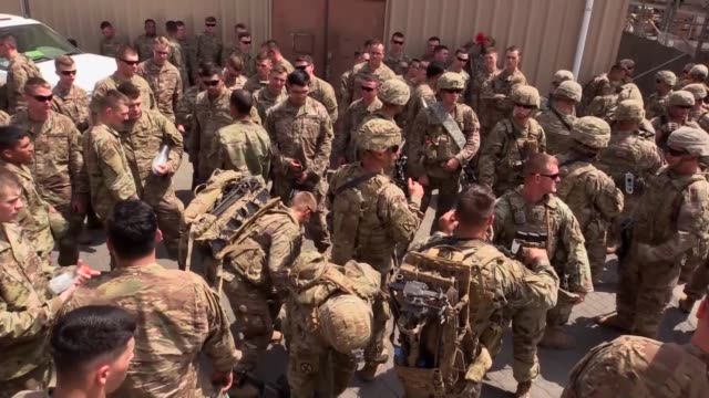 Soldiers from the 10th Mountain Division assigned to the East African Response Force participate in an Emergency Deployment Readiness Exercise March...