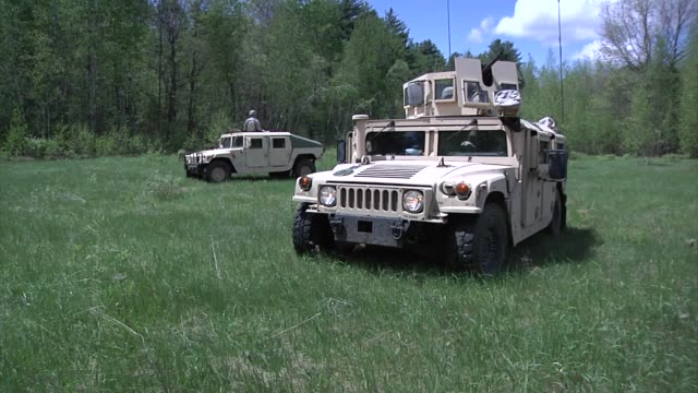 soldiers from the 94th military police company face themselves for training at ethan allen air force base in jericho - hummer stock videos and b-roll footage