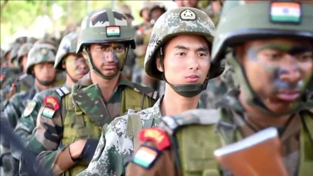 soldiers from the indian army and china's people's liberation army take part in an anti terror drill during the 13 day sixth india china joint... - military exercise stock videos & royalty-free footage