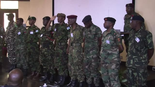 soldiers from the us and partner southern african nations meet in malawi to take part in the annual joint military exercise southern accord focusing... - military exercise stock videos and b-roll footage