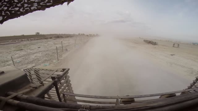 ds soldiers from the us army's 4th squadron 2d cavalry regiment head out for patrol in a stryker vehicle on march 2 2014 near kandahar afghanistan - afghanistan video stock e b–roll