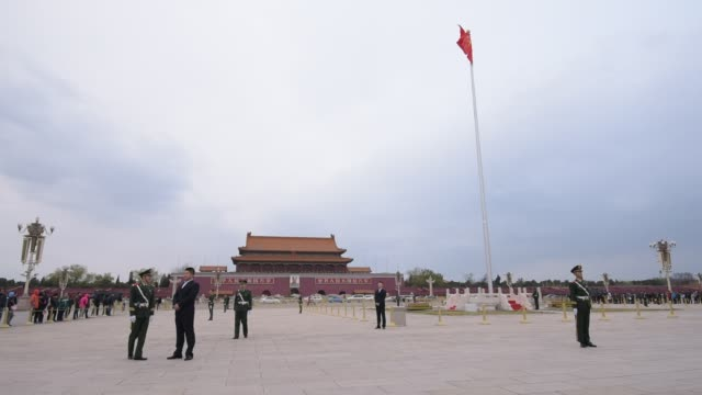 Soldiers Guard At The Tiananmen Square