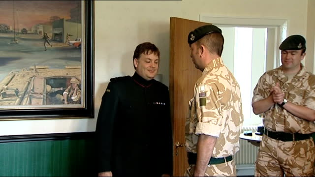 Soldiers honoured for bravery in Afghanistan ENGLAND Wiltshire Bulford Barracks INT Soldiers waiting to receive medals including Corporal Ricky...