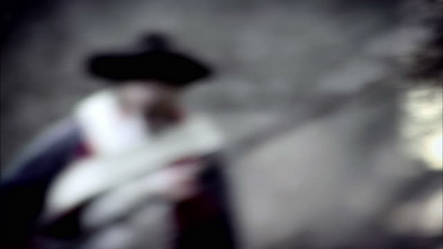soldiers in french revolution uniforms run with bayonets across a battlefield. - french revolution stock videos and b-roll footage