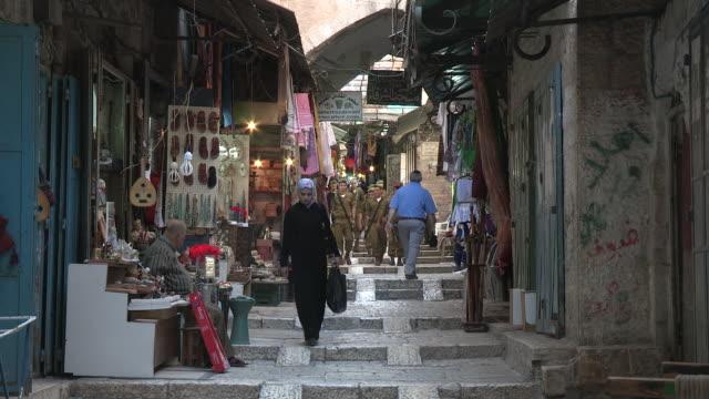 idf soldiers, jerusalem, israel - イスラエル点の映像素材/bロール