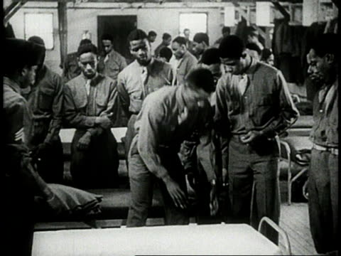 soldiers learning to make a bed in military barracks / usa - single object stock videos & royalty-free footage