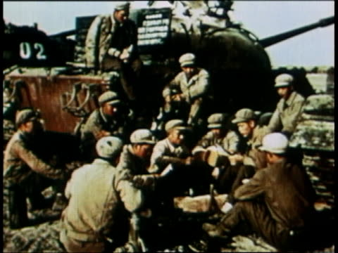 soldiers listening to the radio / beijing china - 1965 stock videos & royalty-free footage