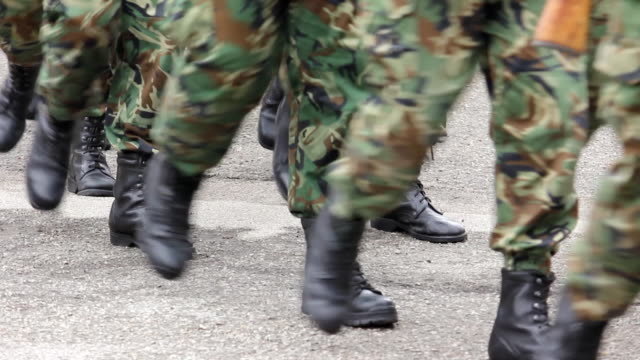 soldiers marching - marching stock videos & royalty-free footage