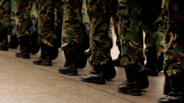 soldiers marching - marching stock videos and b-roll footage