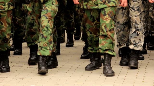 Soldati americani Marciare
