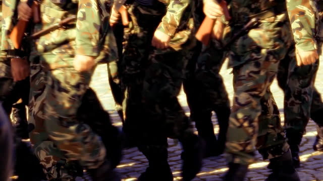 soldiers marching - war stock videos and b-roll footage