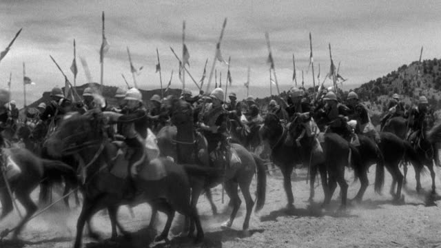 soldiers mount tethered horses and gallop away. - cavalry stock videos & royalty-free footage