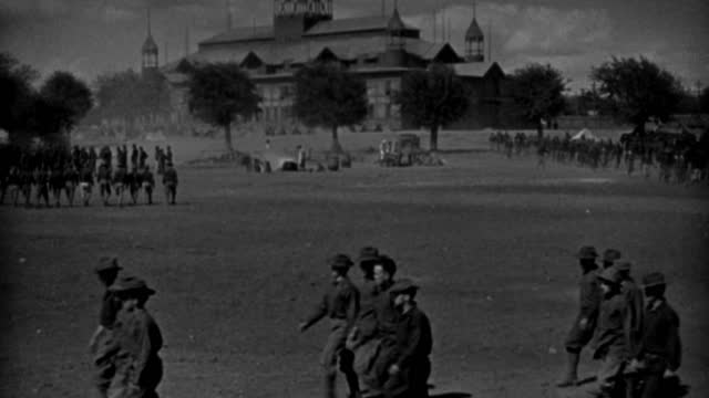 soldiers of the spanish-american war march in a military parade. - 1898 stock videos & royalty-free footage