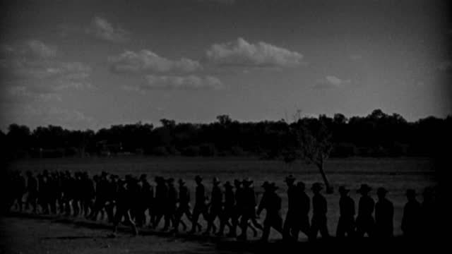 soldiers of the spanish-american war march in silhouette. - 1898 stock videos & royalty-free footage