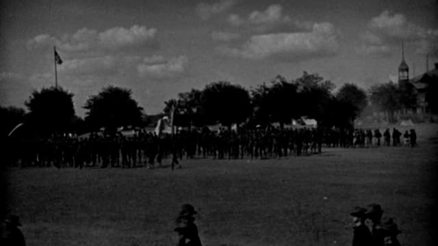 soldiers of the spanish-american war march into formation in a military parade. - 1898 stock videos & royalty-free footage
