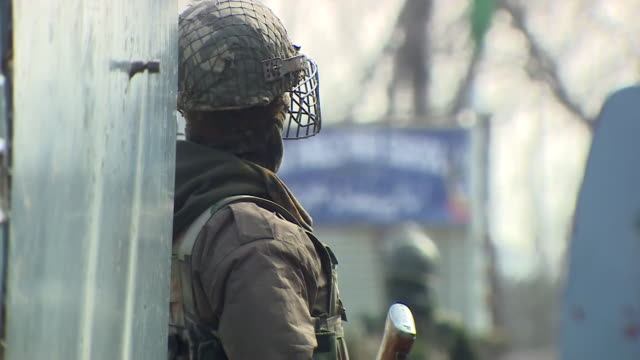 Soldiers on patrol in Kashmir India