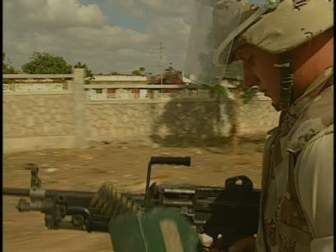 US soldiers patrol Mogadishu during conflict in 1993