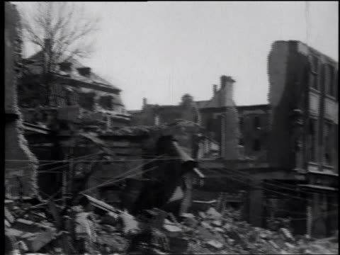soldiers photographing damaged and destroyed buildings / germany - postwar stock videos & royalty-free footage