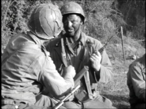 soldiers put on grease paint - 1944 stock videos and b-roll footage