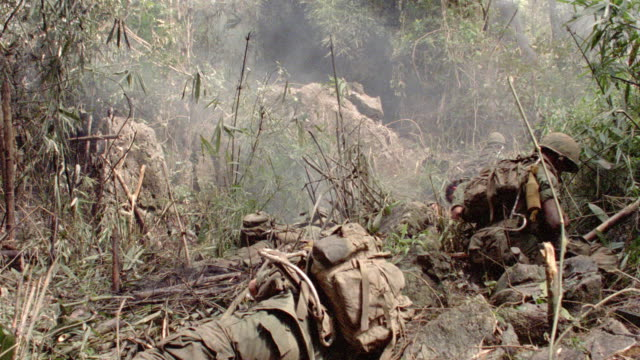 soldiers rest in the timbers during battle. - 1987 stock videos & royalty-free footage