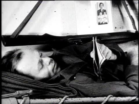 soldiers resting in berths / soldier lying in berth reading a letter / soldier sitting on floor writing in journal / soldier sewing / large group of... - diary stock videos & royalty-free footage