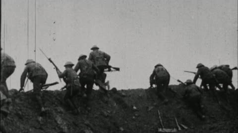 soldiers running away from trench / france - world war one stock videos & royalty-free footage
