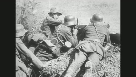 soldiers running onto battlefield. - world war one stock videos & royalty-free footage