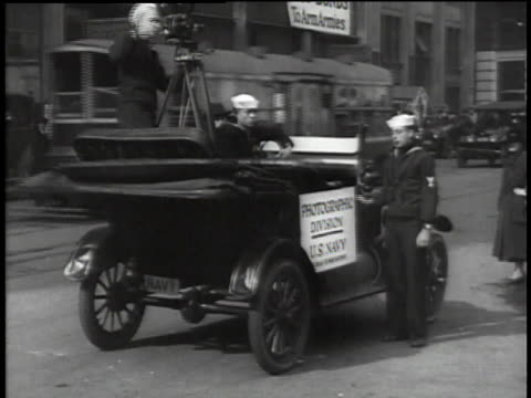 soldiers standing next to a vehicle during a wwi recruiting parade / united states - military recruit stock videos & royalty-free footage