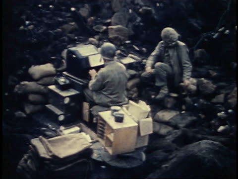 soldiers typing on a keyboard / iwo jima - schlacht um iwojima stock-videos und b-roll-filmmaterial