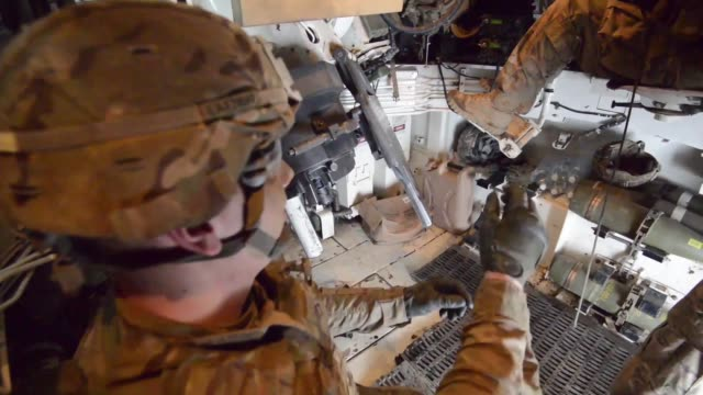 soldiers with battery a, 1st battalion, 7th field artillery regiment, 2nd armored brigade combat team, 1st infantry division, fire m109a6 paladin... - ammunition stock videos & royalty-free footage