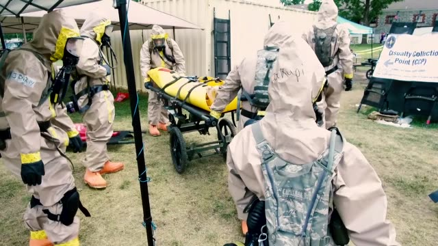 soldiers with illinois national guard chemical biological radiological nuclear enhanced response force package held training and validation exercises... - military exercise stock videos & royalty-free footage