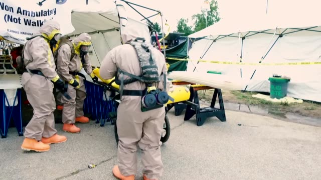Soldiers with Illinois National Guard Chemical Biological Radiological Nuclear Enhanced Response Force Package held training and validation exercises...