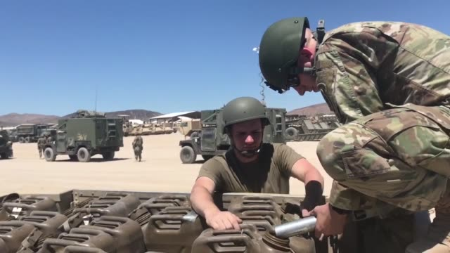 soldiers with north carolina national guard deployed for operation hickory sting depart national training center fort irwin california to conduct... - national guard stock videos and b-roll footage