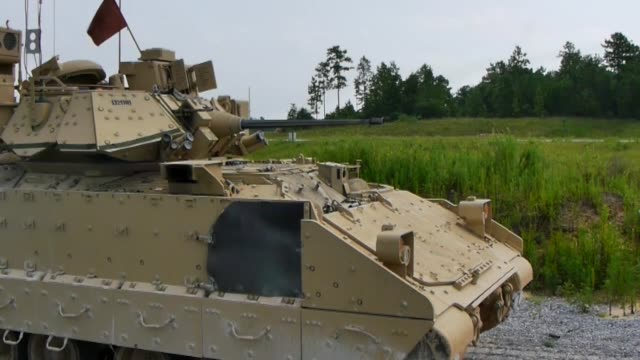 Soldiers with the 155th Armored Brigade Combat team participate in Combined Arms Live Fire Exercise at Camp Shelby Joint Forces Training Center