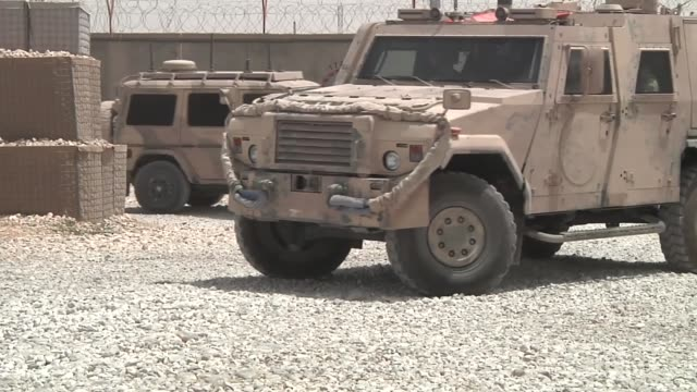 soldiers with the armed forces of montenegro provide force protection and security while deployed to afghanistan in support of the nato-led resolute... - military land vehicle stock videos & royalty-free footage