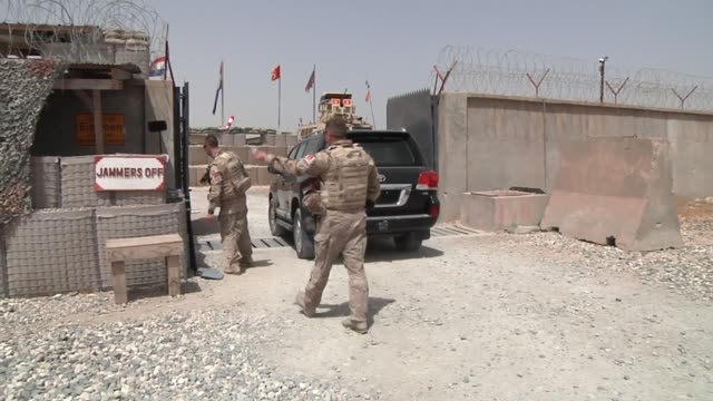 soldiers with the armed forces of montenegro provide force protection and security while deployed to afghanistan in support of the nato-led resolute... - montenegro stock videos & royalty-free footage