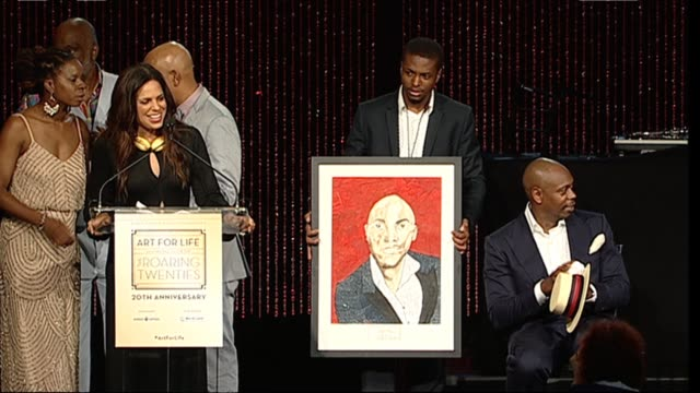 speech soledad o'brien introduces award for dave chappelle at russell simmons rush philanthropic arts foundation to celebrate 20th anniversary at... - bridgehampton stock videos & royalty-free footage