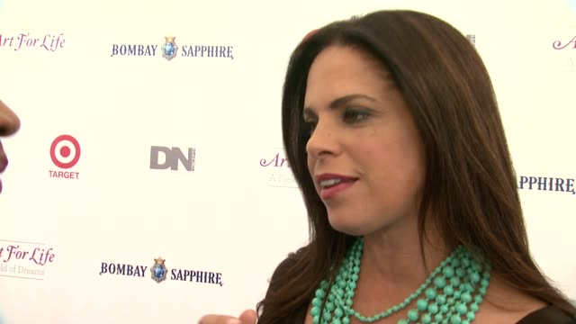 interview soledad o'brien on having a fun night and supporting the cause at 15th annual art for life gala at fairview farms on july 26 2014 in... - bridgehampton stock videos & royalty-free footage